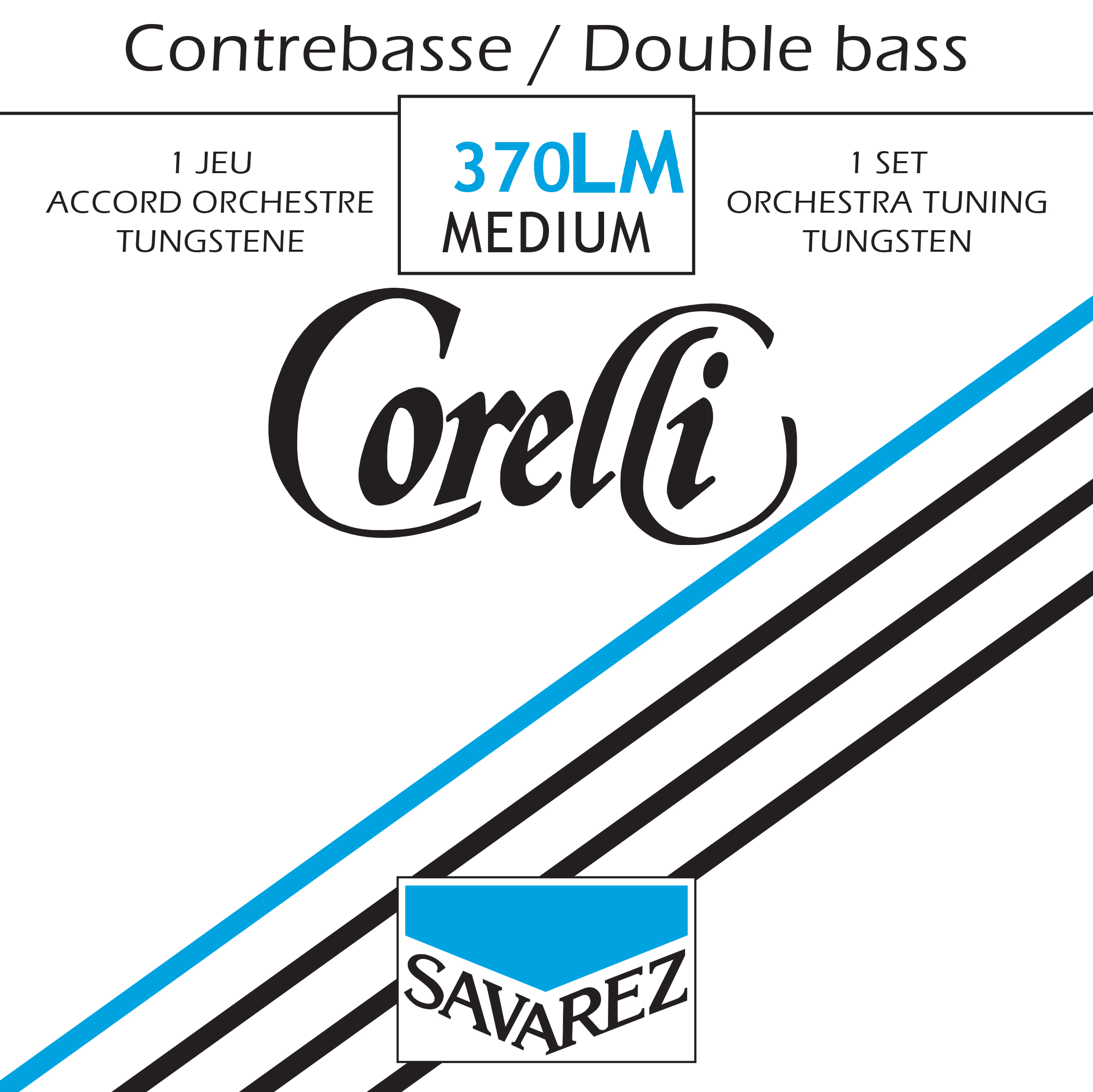 CORELLI TENSION MEDIUM 370LM JEU TUNGSTENE ORCHESTRE