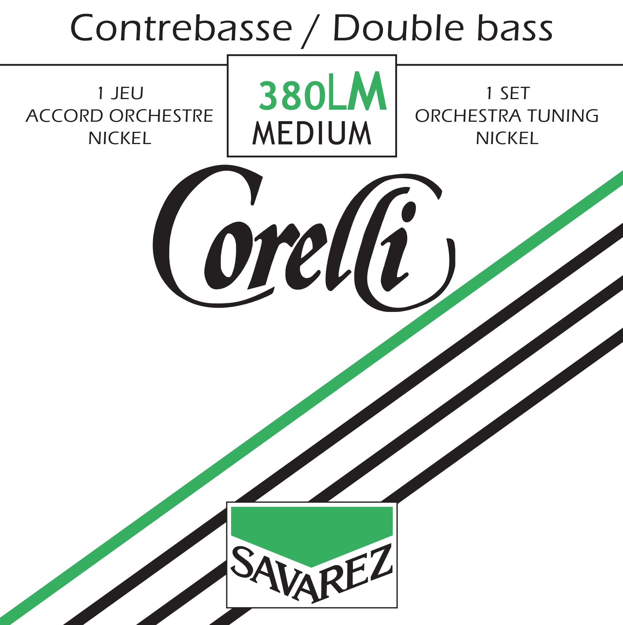 CORELLI TENSION MEDIUM 380LM JEU NICKEL ORCHESTRE