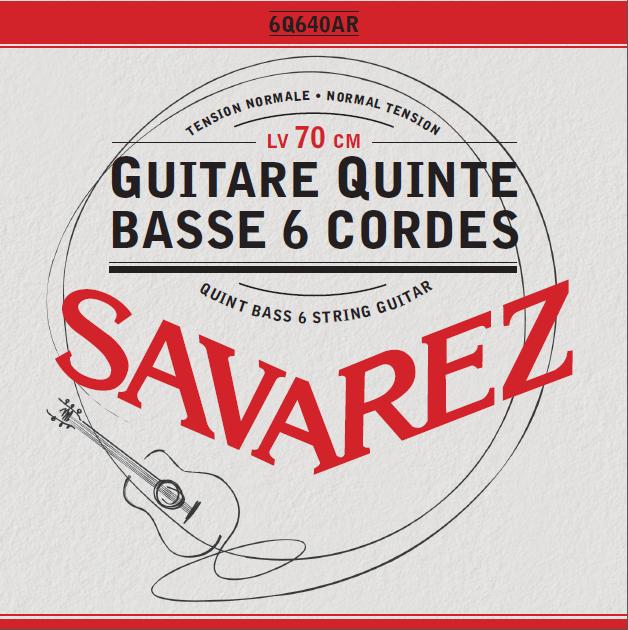 GUITARE QUINTE BASSE 6 CORDES TENSION NORMALE 6Q640AR