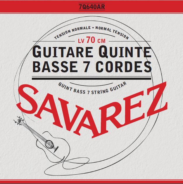 GUITARE QUINTE BASSE 7 CORDES TENSION NORMALE 7Q640AR